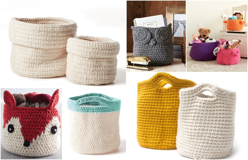 Baskets And Containers Free Crochet Patterns Best 10 Diy