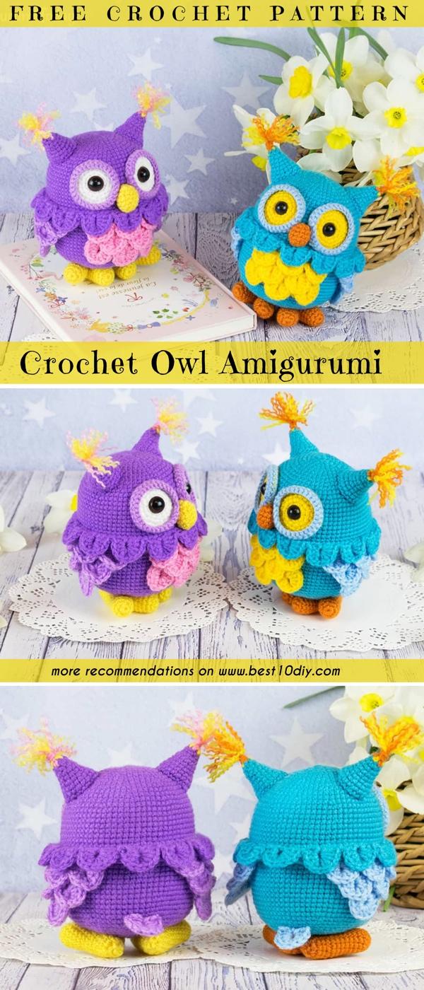 You'll Love these Amigurumi Owl Crochet Patterns | 1400x600