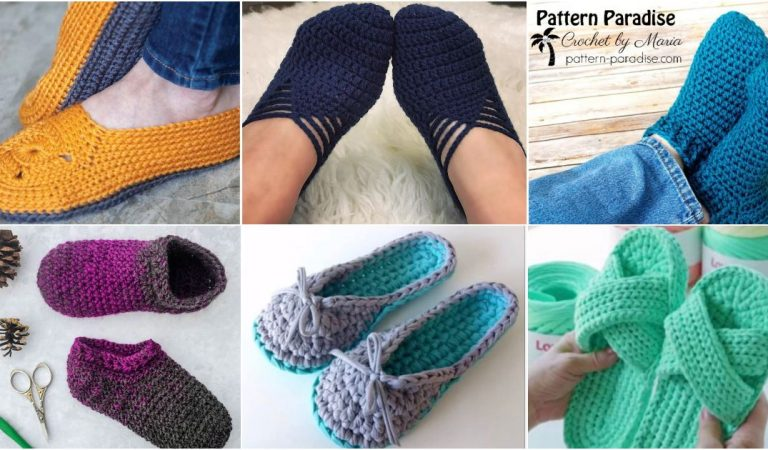 The Best Slippers Sandals Patterns Collections